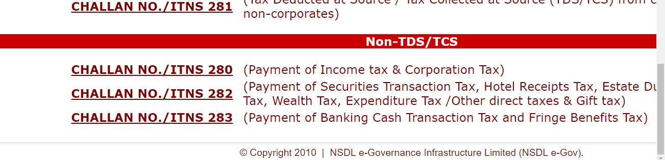 Self assessment tax payment procedure | KnowyourGST com