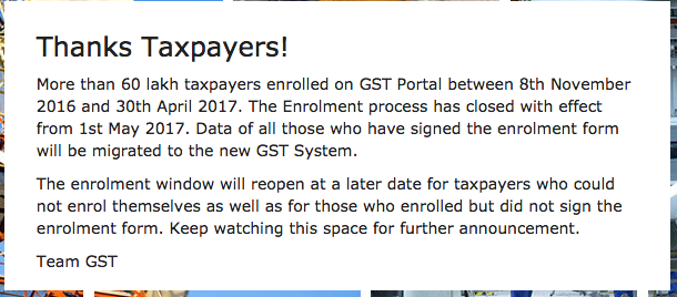 GST Migration closed login not opened