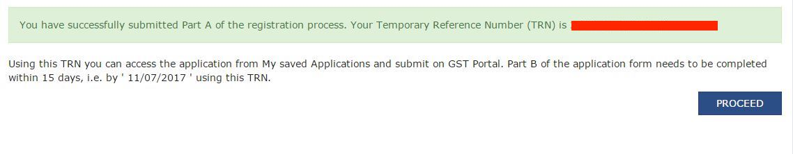 Gst registration procedure knowyourgst gst registration confirmation spiritdancerdesigns Gallery
